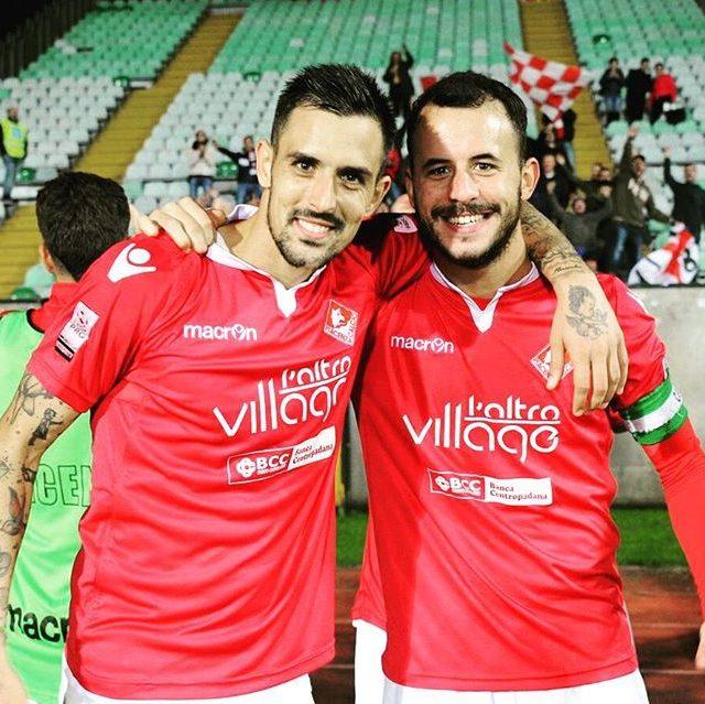 Taugourdeau 5 Silva 6 players PiacenzaCalcio biancorossi CPiace iotifoPiace
