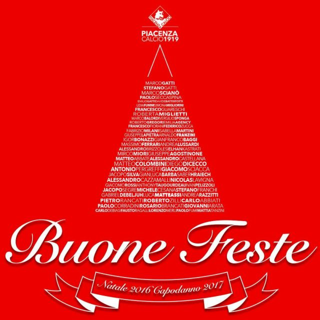 BuonNatale a tutti voi tifosi biancorossi! merrychristmas Piacenza CPiace iotifoPiace