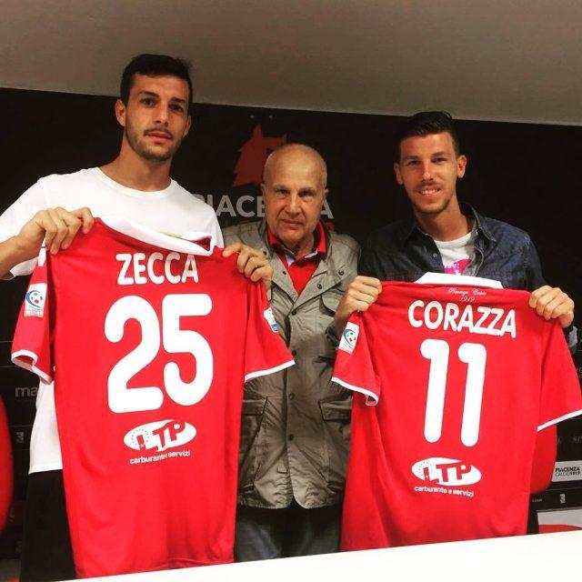 Presentazione ufficiale Zecca e Corazza nuovi attaccanti del Piacenza! Benvenutihellip