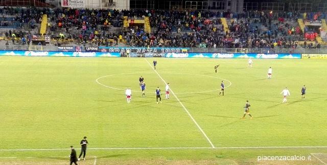 Grande rimonta del Piacenza, a Pisa finisce 2-2