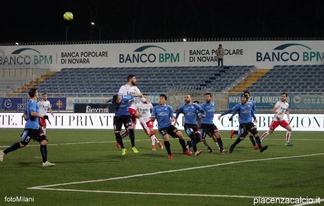 Pareggio a reti inviolate per i biancorossi a Novara