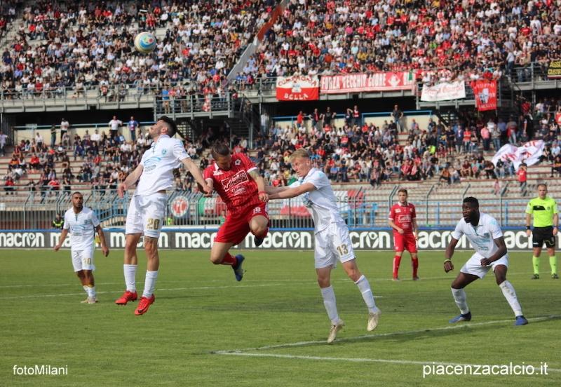 Il Piacenza si impone al Garilli 3-2 con l'Olbia