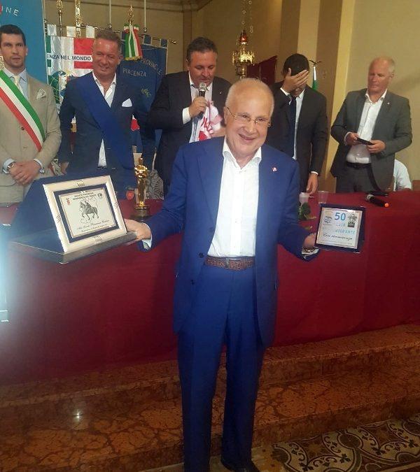 Il Presidente Onorario Stefano Gatti è Piacentino Benemerito nel Mondo