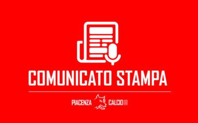 Il cordoglio del Piacenza Calcio
